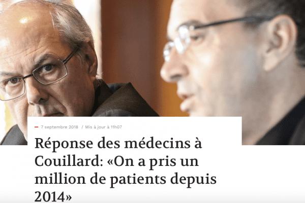 Réponse des médecins à Couillard: «On a pris un million de patients depuis 2014»